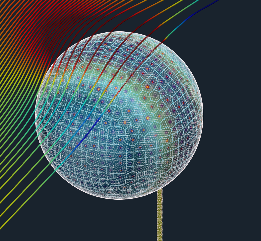 TCAE GUI flow streamtraces beam ball benchmark